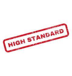 High standard text rubber stamp vector