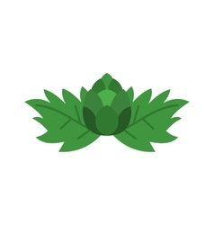 Hop cone icon flat style vector image
