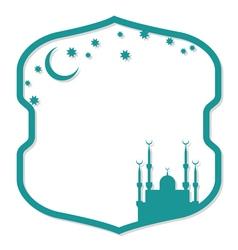 Islamic style frame vector