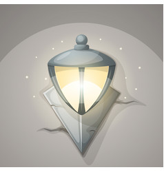 Lamp wall cartoon vector