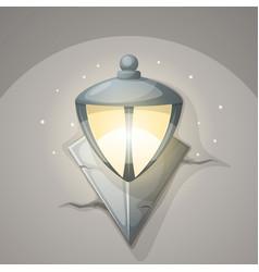 lamp wall cartoon vector image vector image