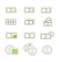 money icon duoton vector image vector image