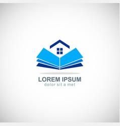 Open book home realty company logo vector