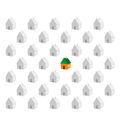 paper small houses vector image
