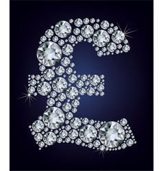 pound symbol in diamonds vector image vector image