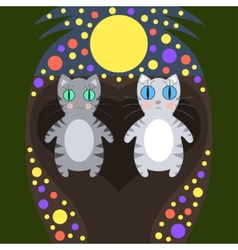 Romantic cats walking vector image