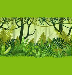 Seamless nature jungle cartoon landscape vector