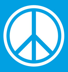 Sign hippie peace icon white vector