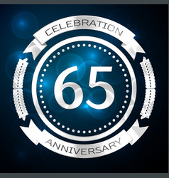 Sixty five years anniversary celebration with vector