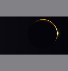 Solar eclipse astronomical phenomenon on motives vector