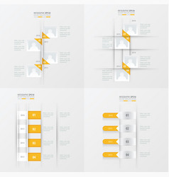 Timeline 4 item yellow color vector
