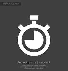 Timer premium icon white on dark background vector