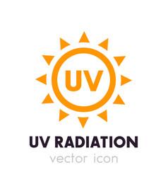 Uv radiation icon vector