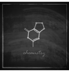Vintage with molecular icon on blackboard vector