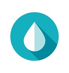 Water rain drop flat icon meteorology weather vector