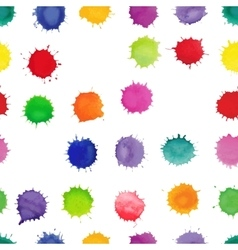 Watercolor seamless pattern with splashes vector image vector image