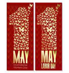 1 may day international labor day workers day vector