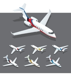 Isometric private jet vector