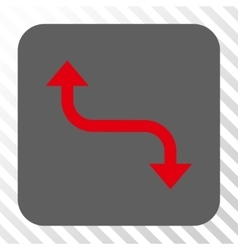 Opposite bend arrow rounded square button vector