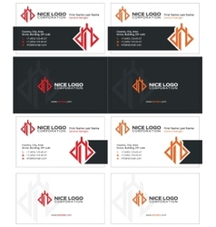 Castle tower business card 1 vector