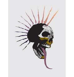 skull punk vector image
