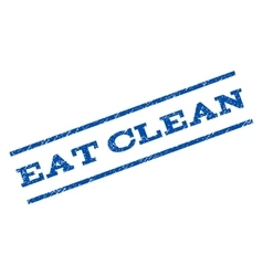 Eat clean watermark stamp vector