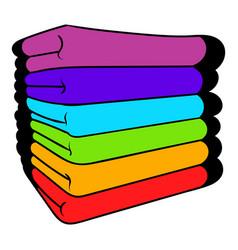 Towel stack icon icon cartoon vector
