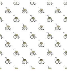Wheelchair pattern vector