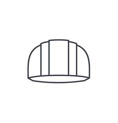 construction symbol helmet thin line icon linear vector image