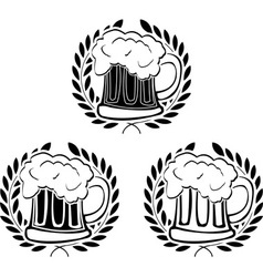 Glory of beer vector