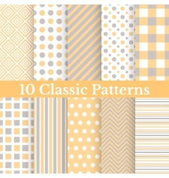 Vintage different seamless patterns vector