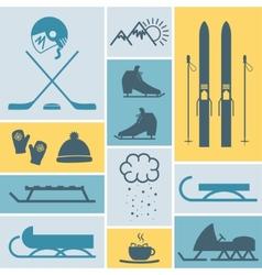 Winter sport vector
