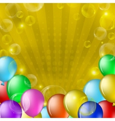 Balloons and bubbles on gold vector