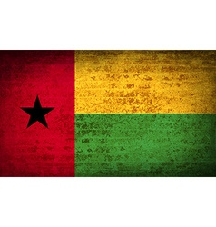 Flags guineabissau with dirty paper texture vector