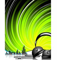 headphone vector image