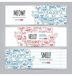 Cats banners template vector image