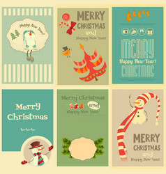 Christmas mini posters vector
