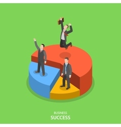 Financial success isometric flat concept vector