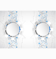 Abstract technological background structure vector