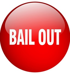 Bail out red round gel isolated push button vector