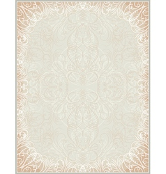 Beige certificate background with calligraphic lin vector