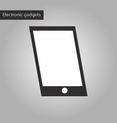 black and white style icon mobile phone vector image