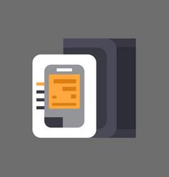 blood pressure monitor icon pulse measure vector image