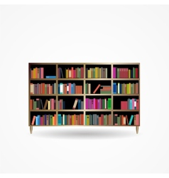 Bookcase with Books Icon vector image