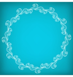 Circle lacy wavy pattern vector