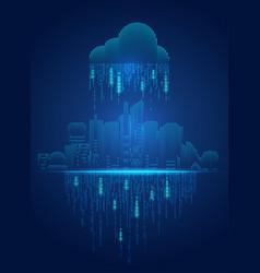 cloud city vector image vector image