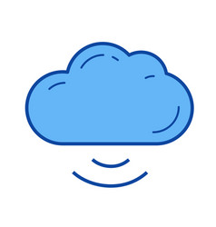 cloud connect line icon vector image
