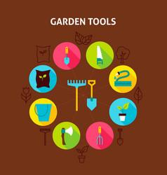 Concept garden tools vector