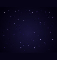 dark night sky with stars sparkle background vector image