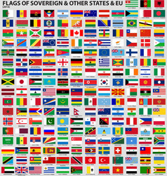 Flags of the World 2014 AI10 vector image vector image